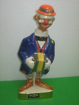 Vintage 1971 Ezra Brooks Clown with Accordion Whiskey Decanter Bottle