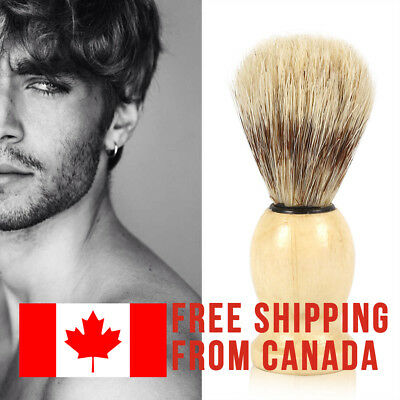 Men Wood Handle Shaving Brush + FREE FAST Shipping from CANADA