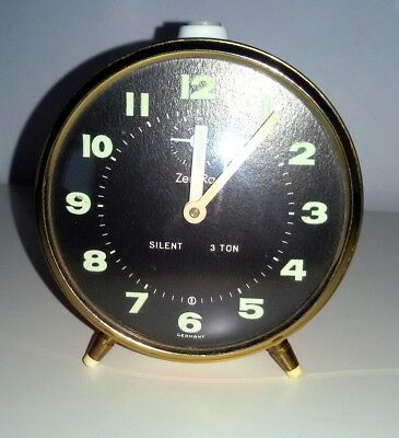 unusual Metal vintage fashioned alarm clock Germany Mechanical and beautiful