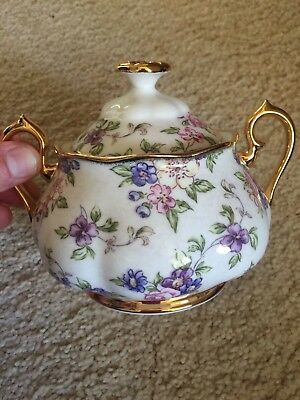 Royal Albert Sugar Bowl - 100 Years Of RA - English Chintz
