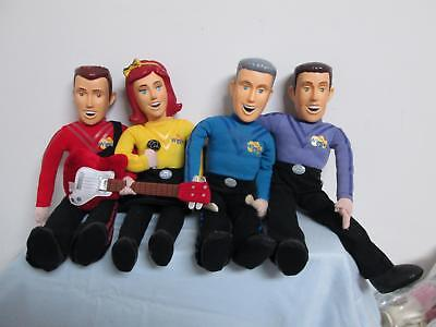 Wiggles Squeeze Talkin Dolls Yellow Emma Blue Anthony Purple Jeff Red Simon READ