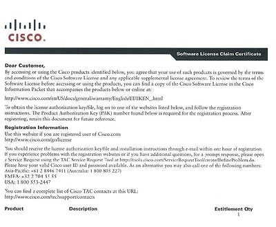 L-FL-CUE-IVR-2= Cisco Unity Express - 2 IVR session E-Delivery PAK
