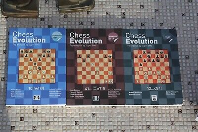 (3) book lot: Chess Evolution Top Anaylsis by Super GMs  free ship Arbor Chess