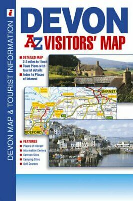 Devon Visitors Map by Geographers' A-Z Map Company Sheet map, folded Book The