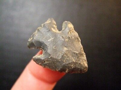 Fine Tennessee Kirk Corner Notched Point Indian Arrowheads Artifacts