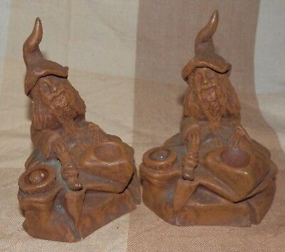Lovely pair of resin gnome figures