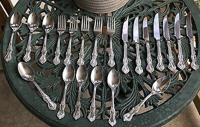 MCM Reed & Barton Heritage Mint 18/10 Stainless Flatware Silverware 21 Serving