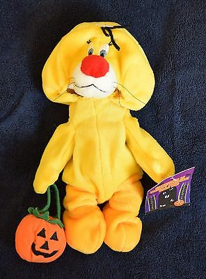 "Warner Brothers SYLVESTER AS TWEETY BIRD 9"" Halloween Bean Bag Plush - NWT"