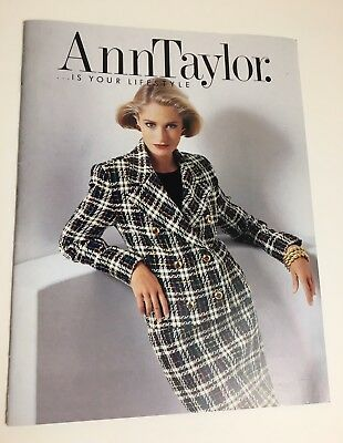 Ann Taylor Vintage Catalog 1991 Good Condition 23 Pages