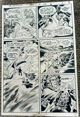 """DC's THE UNEXPECTED #160 1974 Rico Rival """"Death of an Exorcist"""" Original Art Pg7"""