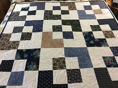 """Soft Flannel Handmade Quilt Never Used Makes A Great Gift 55"""" X 55"""""""