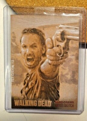 The Walking Dead Season 4 Sketch Card Artist Return