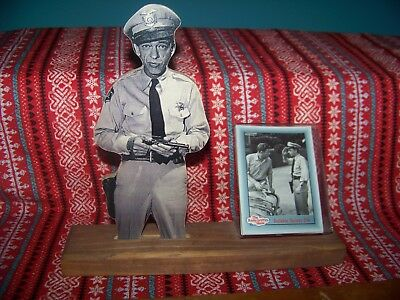 The Andy Griffith Show: Barney Fife Woodcut Display Stand with Trading Card