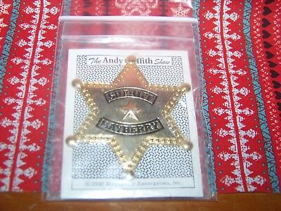 The Andy Griffith Show: Mayberry Sheriff Badge (NEW IN PACKAGE)