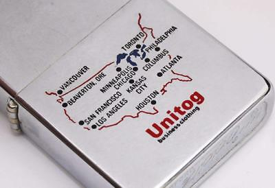 1974 vintage ZIPPO lighter UNITOG w/ USA MAP - Excellent Condition