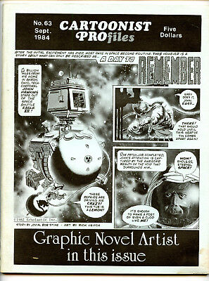 CARTOONIST PROFILES #63 (Sept 1984) FN condition!