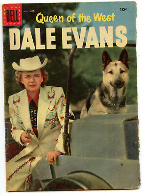 JERRY WEIST ESTATE: QUEEN OF THE WEST DALE EVANS #12 (Dell 1956) VG condition