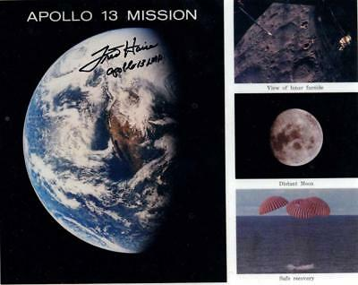 Apollo 13 mission multi image montage photo Fred Haise signed