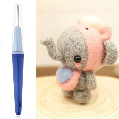 3 Needles DIY Felting Needle Handle Holder Felted Wool Embroidery Craft Tool Kit