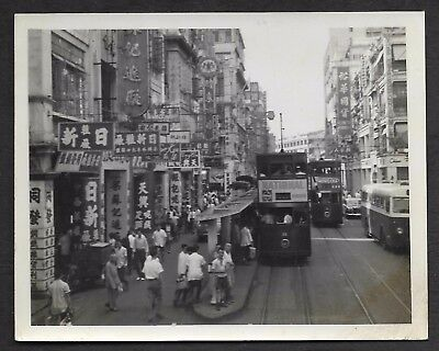 "Hong Kong China, Des Voeux Rd Central Vintage Real Photo size 5""x4"" c60's"