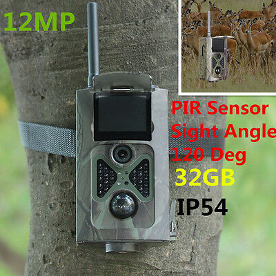 12MP 1080P HD Hunting Trail Camera Video Scouting Infrared Game MMS EMAIL SMS
