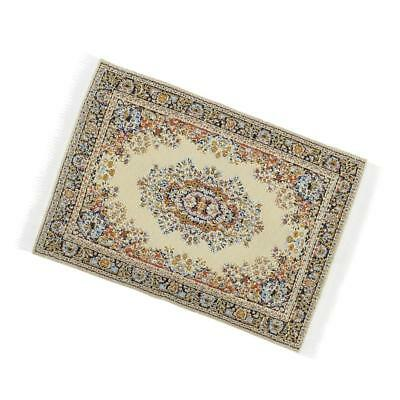 1/12 Scale Woven Rug Floor Carpet Dolls House Furniture Miniatures Beige