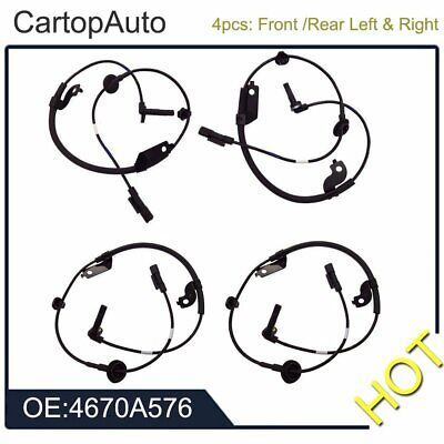 Front+Rear Left & Right ABS Wheel Speed Sensor for Mitsubishi Outlander Lancer