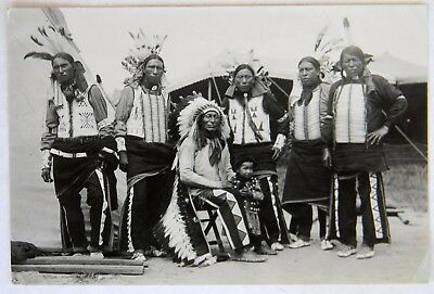 Vintage Native American Photograph SIOUX Indian Chief IRON TAIL Buffalo Nickel