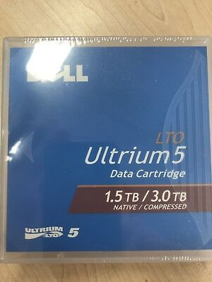 5x New Dell LTO Ultrium 5 1.5TB Native/ 3TB Compressed Tape Data Cartridge 2H9YH