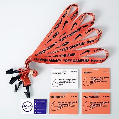 Off White x Nike Off Campus c/o Virgil Abloh NYC Employee Staff Neck Lanyard