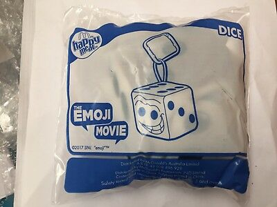 Mcdonald's Happy Meal Toy Emoji Movie Dice New In Packet