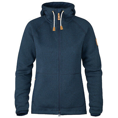 Fjallraven Ovik (Navy) Women's Fleece Hoodie