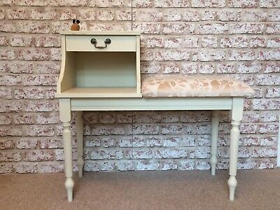 Vintage Hall Console Telephone Table seat Annie Sloan With Drawer