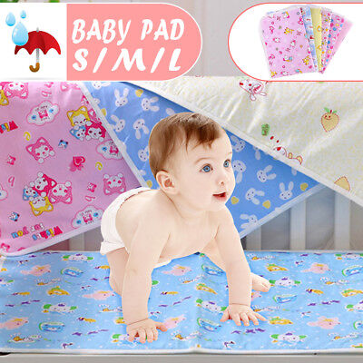 Baby Urine Nappy Pad Mattress Reusable Waterproof Cotton Diapers for Newborns AU