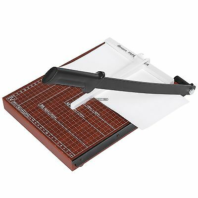 "18 "" Paper Cutter A4 To B7 Wood Base Guillotine Page Trimmer Blade Scrap Booking"