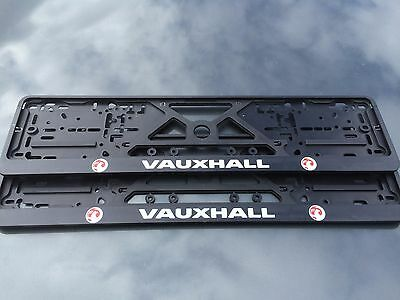 VAUXHALL number plate surrounds (pair) Vectra insignia signum zafira astra corsa