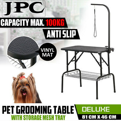 Pet Cat Dog Grooming Table Adjustable Arm Non- Slip Surface Set Kit