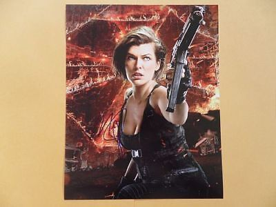 Milla Jovovich 8x10 Autographed 'Resident Evil' Photo