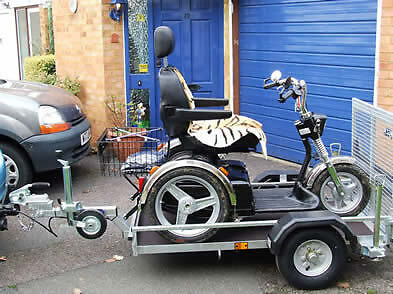 Mobility Scooter Trailer manufactured by Armitage Trailers & Towbars