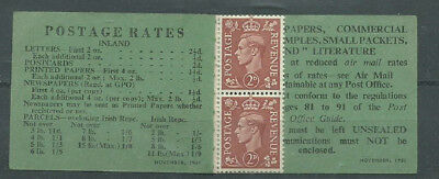 GB KGVI 1951 Booklet composite with 2 stamps remaining