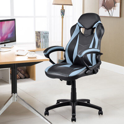 Executive Race Car Style Chair High Back Bucket Seat Gaming Office Computer New
