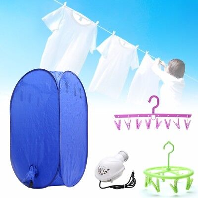 220V 800W Electric Air Clothes Dryer Folding Fast Drying Machine Bag Portable