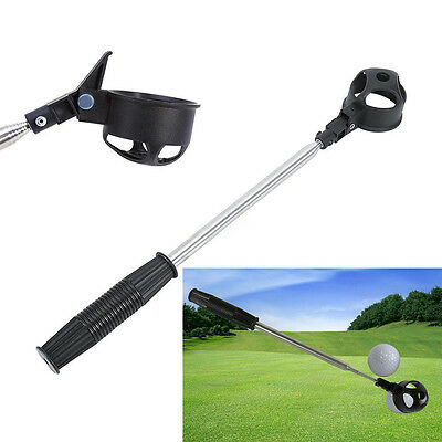 2M Scoop Golf Ball Pick Up Telescopic Stainless Steel Shaft Tool Retriever New.