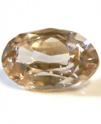 Natural earth-mined champagne zircon quality gem 2.16 carat