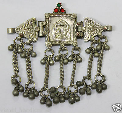 Rare Old Vintage Tribal God Goddess Indian Silver Amulet Pendant