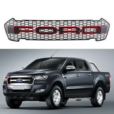 For 2015 2016 Ford Ranger T6 MK2 MINOR CHANGE XLT PX Front Grill Grille With Led