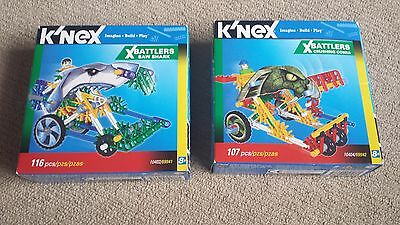 K'nex XBattlers 2 sets 10402 and 10404 for kids 8+ years