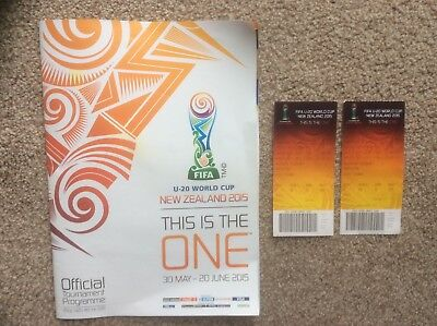 Fifa Under 20 Football World Cup Programme And Tickets New Zealand 2015.