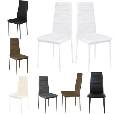 2 4 6 Black White Dining Room Chairs Kitchen Dinning Chair