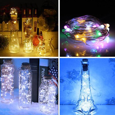 2/4/8Pack LED Battery Operated Micro Rice Wire String Fairy Lights Xmas Party UK